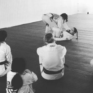 Chelsea teaching a BJJ seminar